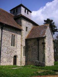 Breamore church (Hants), SW aspect
