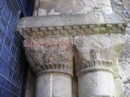 Netheravon (Wilts), W archway in tower, S capital
